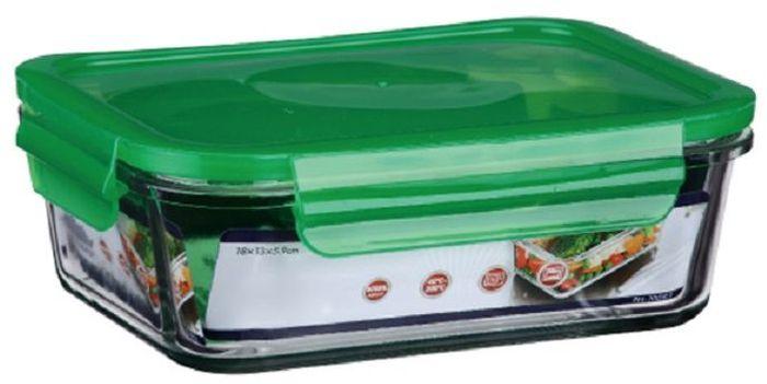 Контейнер пищевой Elff Decor, цвет: зеленый, 650 мл1407-125Контейнер для продуктов Elff Decor с вакуумной крышкой предназначен для хранения и запекания. Изготовлен из жаропрочного стекла.Температурный режим: -40°С до 200°С.Размер: 15,9 х 11,4 х 5,7 см.