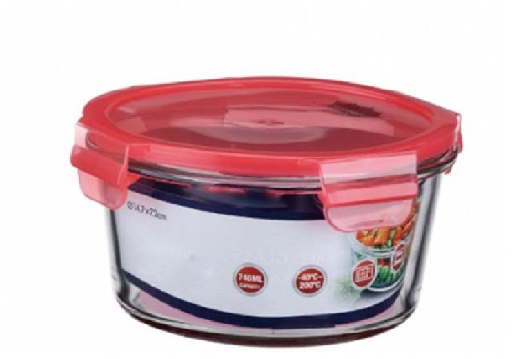 Контейнер пищевой Elff Decor, цвет: розовый, 740 мл1407-136Контейнер для продуктов Elff Decor с вакуумной крышкой предназначен для хранения и запекания. Изготовлен из жаропрочного стекла.Температурный режим: -40°С до 200°С.Размер: 14,7 х 7,2 см.