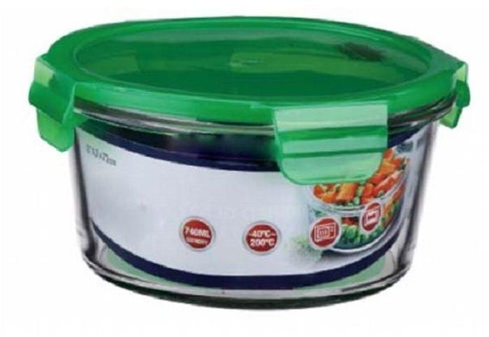 Контейнер пищевой Elff Decor, цвет: зеленый, 740 мл1333980Контейнер для продуктов Elff Decor с вакуумной крышкой предназначен для хранения и запекания. Изготовлен из жаропрочного стекла. Температурный режим: -40°С до 200°С. Размер: 14,7 х 7,2 см.