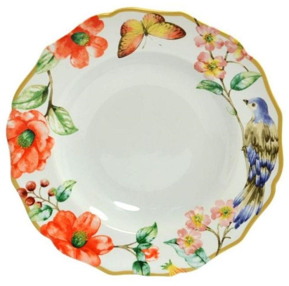 Тарелка Elff Decor Дивная птица, диаметр 23,5 см1600-140Тарелка из серии посуды DELI превратит ваш обед или чаепитие в утончённую трапезу и позволит вам вдохнуть атмосферу загадочного неповторимого Востока.