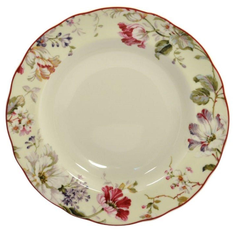Тарелка Elff Decor Нежный букет, диаметр 23,5 см1600-156Тарелка глубокая из серии посуды DELI превратит ваш обед в утончённую трапезу и позволит вам вдохнуть атмосферу загадочного неповторимого Востока.