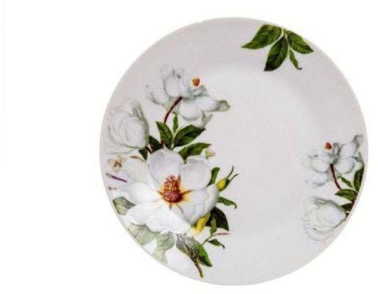 Тарелка десертная Elff Decor Белая роза, диаметр 19 см1600-420Тарелка из коллекции посуды Фазенда. Предметы этой коллекции, изготовленные из керамики, придадут вашей кухне особенный колорит теплого уютного места, куда так хочется вернуться. Деревенский стиль, эта разновидность стиля Прованс, с его натуральными оттенками, живописными пейзажами и цветочной палитрой сегодня востребован, как никогда раньше.