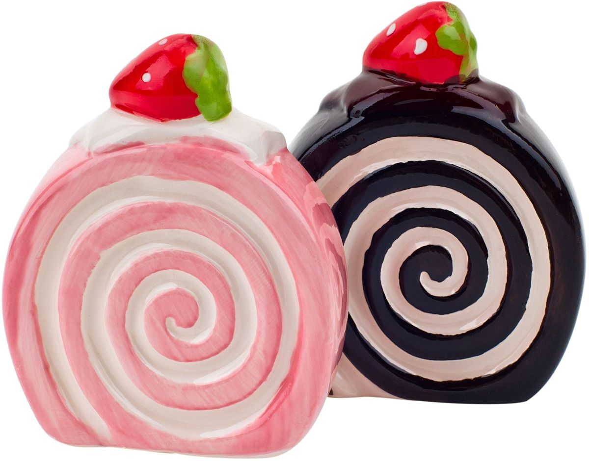 Набор для специй Elff Decor Бисквит, цвет: розовый, черный, 2 предмета200-003Набор солонка и перечница сделает вашу кухню яркой и незабываемой. Эти милые и весёлые баночки для специй выглядят очень аппетитно и придутся по душе любой хозяйке. Порадуйте близких и детей милым подарком !