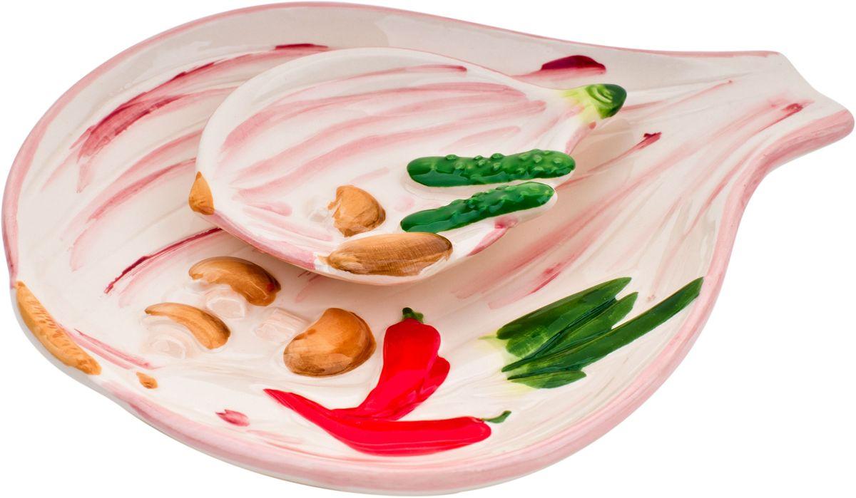 Набор тарелок Elff Decor Лук репчатый, 2 шт набор для специй elff decor бисквит цвет желтый голубой 2 предмета