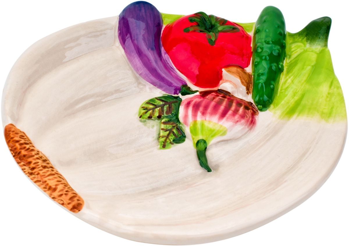 Тарелка Elff Decor Бабушкины соленья, 15 х 12 см тарелка elff decor терра цвет оранжевый диаметр 21 см