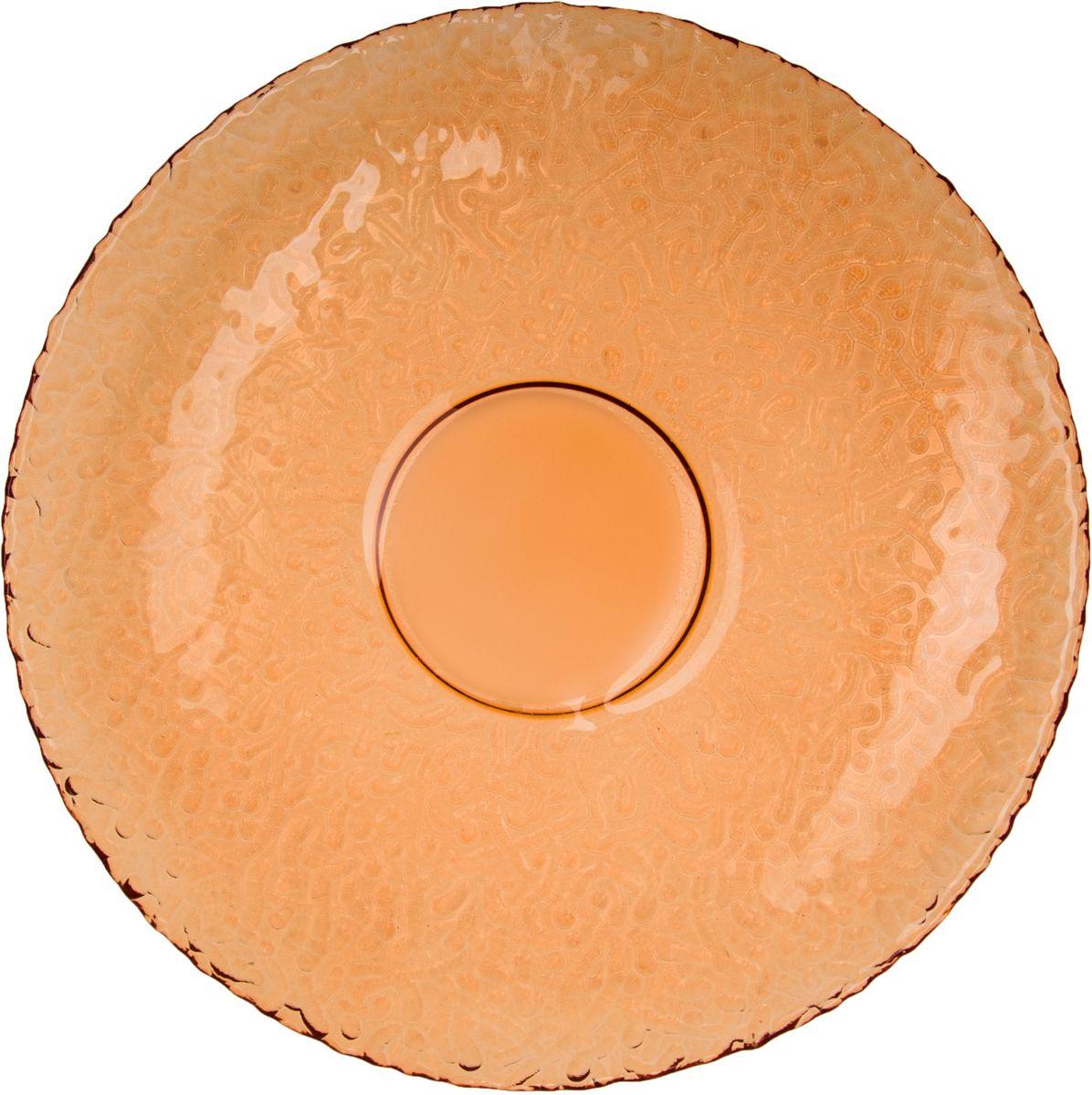 Тарелка Elff Decor Терра, цвет: оранжевый, диаметр 26 см тарелка 20 см elff decor цвет синий голубой белый