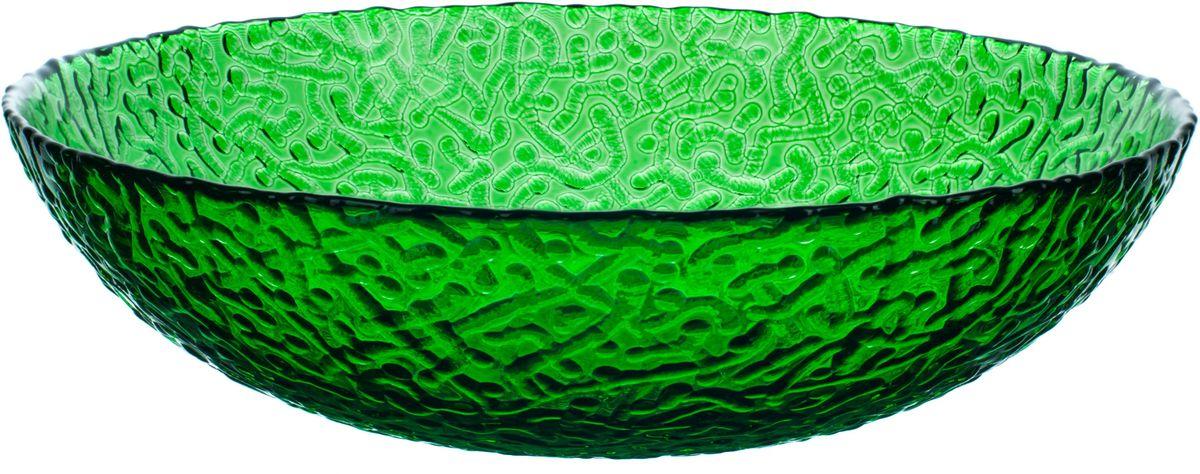 Тарелка Elff Decor Терра, цвет: зеленый, диаметр 20 см2301-030Модные изделия из цветного стекла от Elff Ceramics для сервировки стола и декора интерьера, российского производства, сделают Ваш дом еще более уютным.