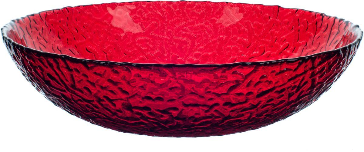 Тарелка Elff Decor Терра, цвет: красный, диаметр 20 см салфетница в подарочной упаковке elff decor цвет серебряный металлический