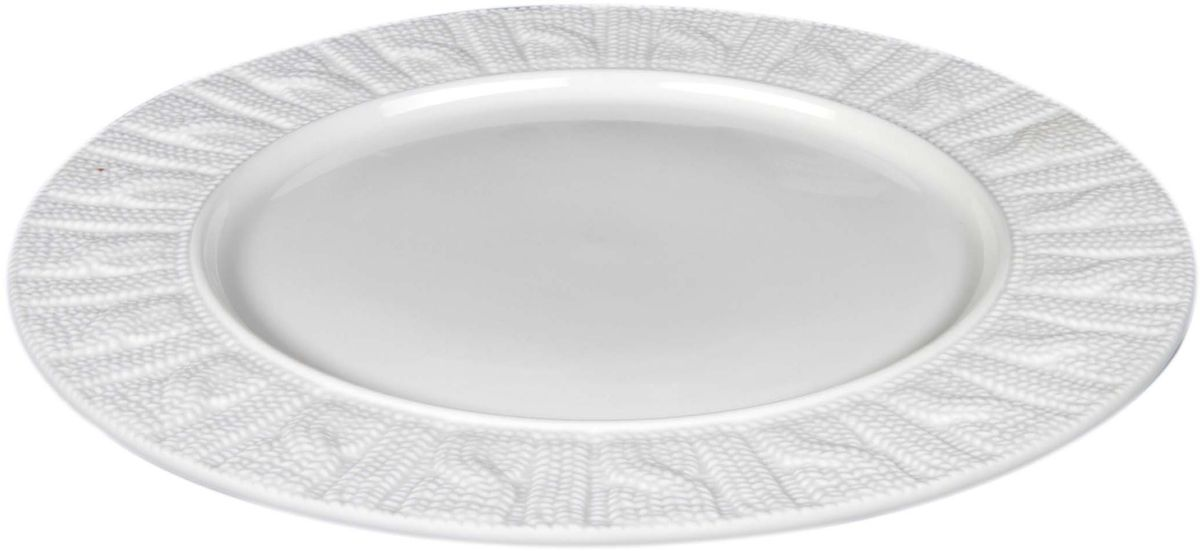 Тарелка Elff Decor, диаметр 26 см707-805Изящный дизайн этой тарелки придется по вкусу и ценителям классики, и тем, кто предпочитает утонченность. Она идеально подойдет для сервировки стола и станет отличным подарком к любому празднику. Посуда выполнена из высококачественной керамики, благодаря чему прекрасно подходит для посудомоечной машины и микроволновой печи. Рекомендовано мыть мягкими моющими средствами и не мыть абразивными веществами.