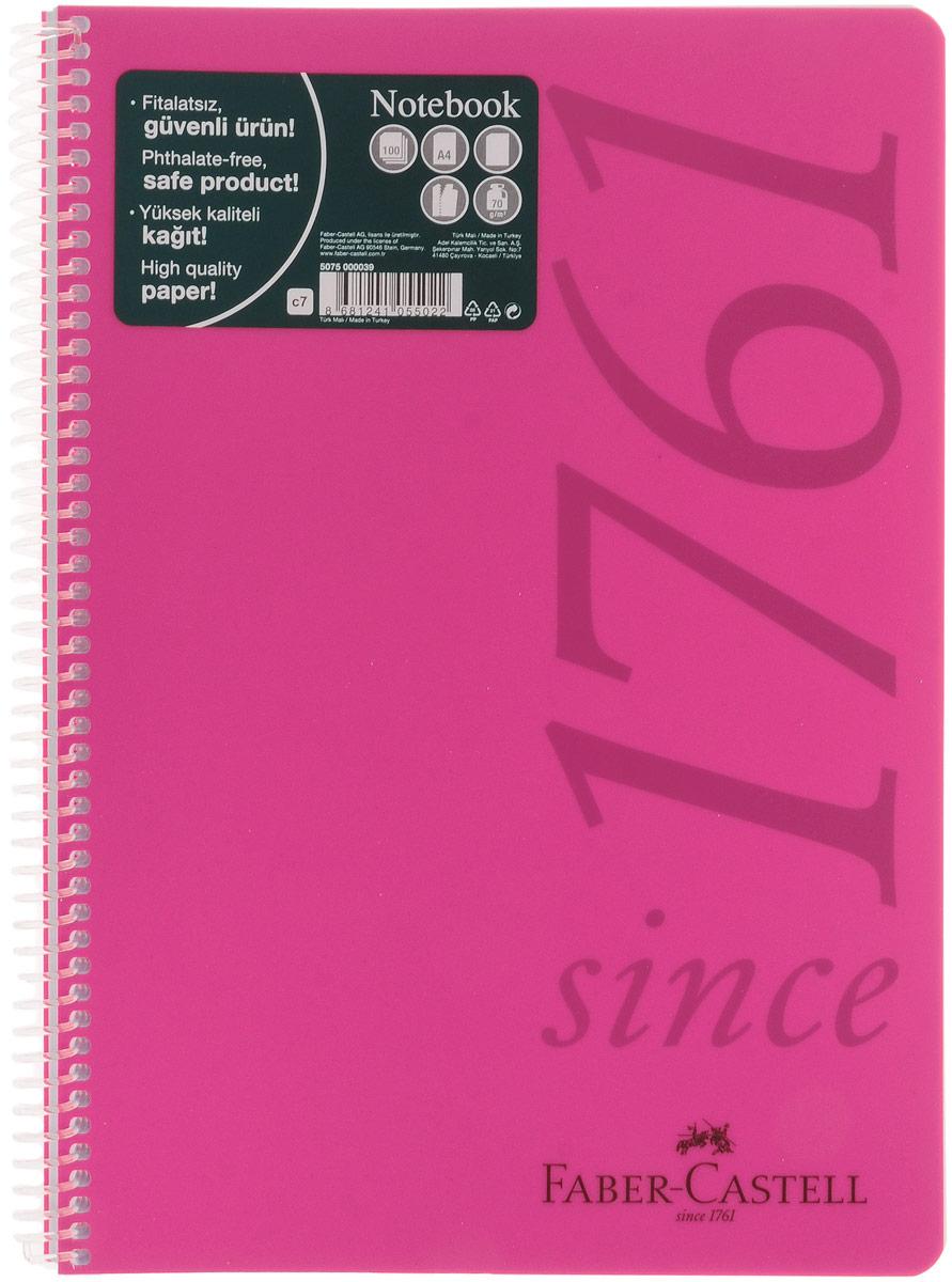 Faber-Castell Блокнот Since 1761 100 листов в линейку цвет розовый507037Оригинальный блокнот Faber-Castell Since 1761 в твердой пластиковой обложке подойдет для памятных записей, любимых стихов и многого другого.Блок состоит из 100 листов в линейку. Блокнот изготовлен со спиралью. Такой блокнот станет не только достойным аксессуаром среди ваших канцелярских принадлежностей, но и практичным подарком для в близких и друзей.