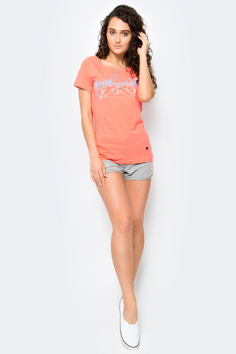 цена Футболка женская Icepeak Lilith, цвет: коралловый. 754724591IV. Размер 36 (42) онлайн в 2017 году