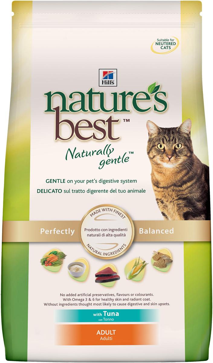 Корм сухой Hills Natures Best для взрослых кошек, с тунцом и овощами, 2 кг4199Корм сухой Hills Natures Best специально разработан для взрослых кошек от 1 года до 6 лет. Идеально сбалансирован, состоит из высококачественных натуральных ингредиентов с добавлением витаминов и минералов, таурина для поддержания нормальной работы сердца и функционирования сетчатки. Корм содержит целебные ингредиенты, включающие тунец, садовые овощи, рис и злаки. Консервирован естественным способом с использованием витамина Е и розмарина для сохранения свежести и отличного вкуса. Не содержит искусственных красителей или вкусовых добавок. Имеет натуральный вкус, который понравится вашему питомцу. Уникальная смесь антиоксидантных витаминов помогает поддерживать здоровой иммунную систему. Состав: с тунцом (минимум 7% тунца), мука из мяса домашней птицы, мука из маисового глютена, животный жир, молотая кукуруза, молотый рис, коричневый рис, мука из тунца, рыбный гидролизат, молотый ячмень, овсяная крупа, гидролизат белка, сухая свекольная пульпа, калия хлорид, L-лизина гидрохлорид, высушенная морковь, высушенный горох, томатные выжимки, порошок шпината, мякоть цитрусовых, виноградные выжимки, растительное масло, рыбий жир, DL-метионин, соль, кальция карбонат, клетчатка овса, оксид железа, дикальция фосфат, таурин, L-триптофан, витамины и микроэлементы. Среднее содержание нутриентов в рационе: протеины 32,1%, жиры 20,8%, углеводы 33,8%, клетчатка (общая) 1,7%, влага 5,5%, кальций 0,76%, фосфор 0,71%, натрий 0,43%, калий 0,76%, магний 0,07%, омега-3 жирные кислоты 0,57%, омега-6 жирные кислоты 3,53%, таурин 0,17%, витамин А 9950 МЕ/кг, витамин D 525 МЕ/кг, витамин Е 550 мг/кг, витамин С 70 мг/кг, бета-каротин 1,5 мг/кг. Товар сертифицирован.