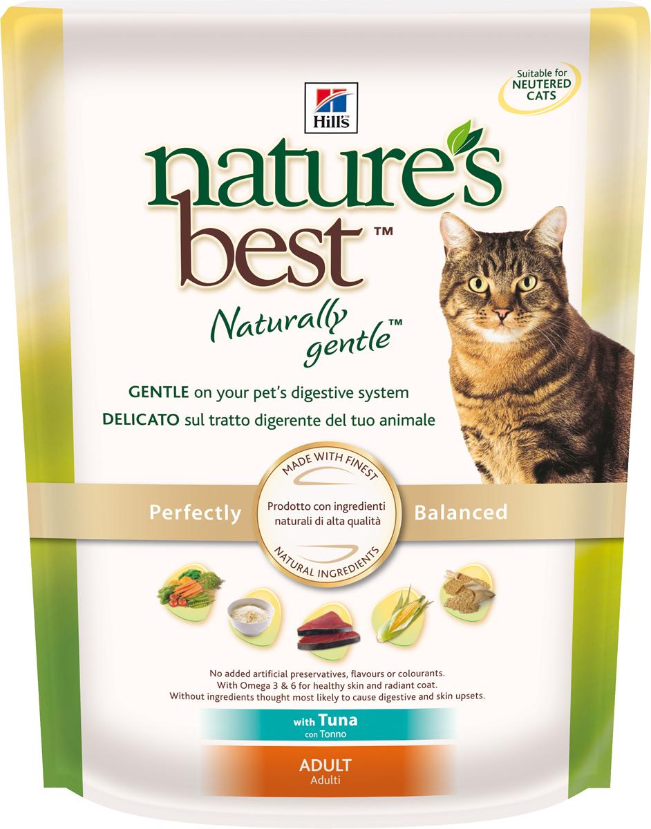 Корм сухой Hills Natures Best для взрослых кошек, с тунцом и овощами, 300 г5268Корм сухой Hills Natures Best специально разработан для взрослых кошек от 1 года до 6 лет. Идеально сбалансирован, состоит из высококачественных натуральных ингредиентов с добавлением витаминов и минералов, таурина для поддержания нормальной работы сердца и функционирования сетчатки. Корм содержит целебные ингредиенты, включающие тунец, садовые овощи, рис и злаки. Консервирован естественным способом с использованием витамина Е и розмарина для сохранения свежести и отличного вкуса. Не содержит искусственных красителей или вкусовых добавок. Имеет натуральный вкус, который понравится вашему питомцу. Уникальная смесь антиоксидантных витаминов помогает поддерживать здоровой иммунную систему. Состав: с тунцом (минимум 7% тунца), мука из мяса домашней птицы, мука из маисового глютена, животный жир, молотая кукуруза, молотый рис, коричневый рис, мука из тунца, рыбный гидролизат, молотый ячмень, овсяная крупа, гидролизат белка, сухая свекольная пульпа, калия хлорид, L-лизина гидрохлорид, высушенная морковь, высушенный горох, томатные выжимки, порошок шпината, мякоть цитрусовых, виноградные выжимки, растительное масло, рыбий жир, DL-метионин, соль, кальция карбонат, клетчатка овса, оксид железа, дикальция фосфат, таурин, L-триптофан, витамины и микроэлементы. Среднее содержание нутриентов в рационе: протеины 32,1%, жиры 20,8%, углеводы 33,8%, клетчатка (общая) 1,7%, влага 5,5%, кальций 0,76%, фосфор 0,71%, натрий 0,43%, калий 0,76%, магний 0,07%, омега-3 жирные кислоты 0,57%, омега-6 жирные кислоты 3,53%, таурин 0,17%, витамин А 9950 МЕ/кг, витамин D 525 МЕ/кг, витамин Е 550 мг/кг, витамин С 70 мг/кг, бета-каротин 1,5 мг/кг. Товар сертифицирован.