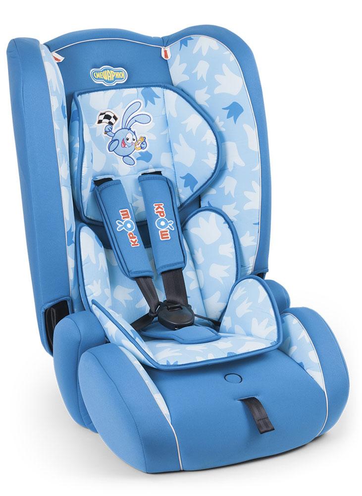 Autoprofi Автокресло Смешарики Крош от 9 до 36 кгSM/DK-300 KroshАвтомобильное кресло Autoprofi Смешарики относится к группе 1/2/3 и подходит для детей весом от 9 до 36 кг, примерно с 9 месяцев до 12 лет.Группа 1 - для перевозки детей весом до 18 кг (возраст примерно от 9 месяцев до 4 лет). Группа 2/3 - для перевозки детей весом 15-36 кг (возраст приблизительно с 3 до 12 лет).Отстегивающаяся спинка легко превращает его в бустер, а выдвижной подголовник позволяет изменять размер по мере взросления ребенка. Кресло украшено изображениями персонажей любимого детьми мультфильма. Система фиксации позволит надежно закрепить ребенка штатным ремнем безопасности. Толстый слой поролона подарит комфорт даже во время дальней поездки.Продукция прошла испытания и соответствует современным российским и европейским стандартам.