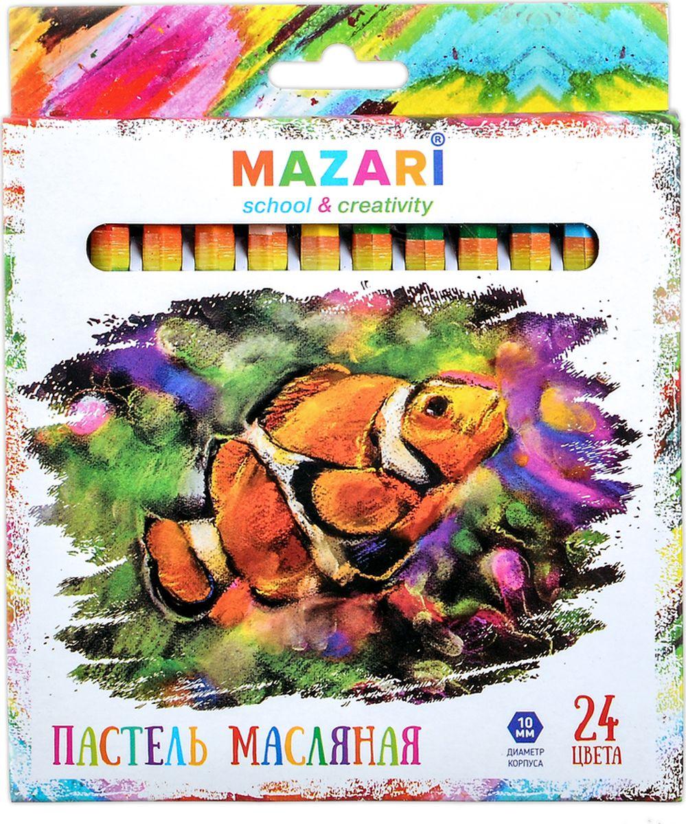 Mazari Пастель масляная Safari 24 цвета человек ползет по стеклу