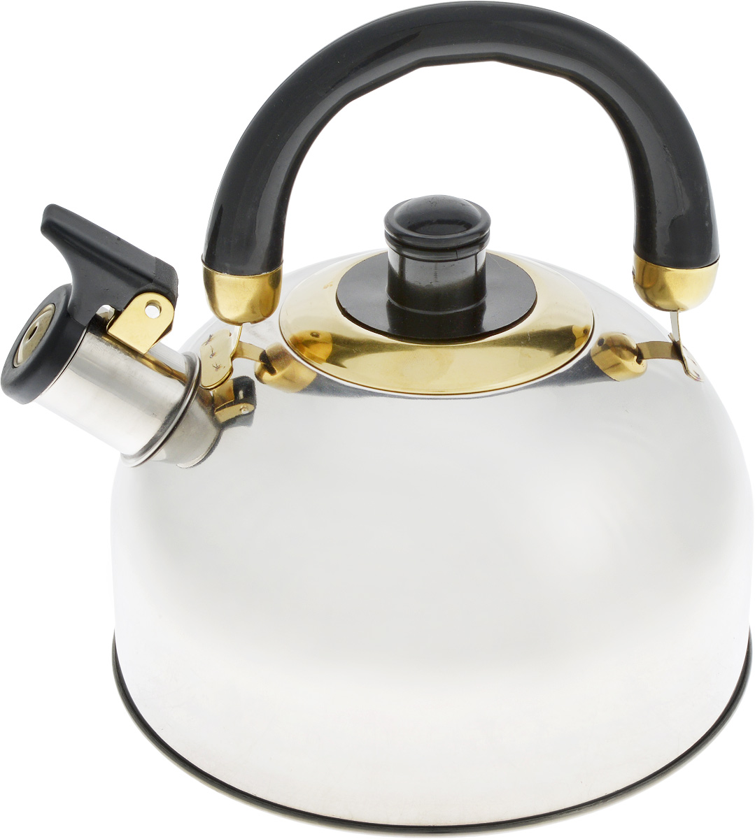 Чайник Bohmann, со свистком, 2,5 л099BHLЧайник Bohmann изготовлен из нержавеющей хромоникелевой стали с зеркальной полировкой. Высококачественная сталь представляет собой материал, из которого в течение нескольких десятилетий во всем мире производятся столовые приборы, кухонные инструменты и различные аксессуары. Этот материал обладает высокой стойкостью к коррозии и кислотам. Прочность, долговечность и надежность этого материала, а также первоклассная обработка обеспечивают практически неограниченный запас прочности и неизменно привлекательный внешний вид. Чайник оснащен удобной ручкой из бакелита черного цвета. Ручка не нагревается, что предотвращает появление ожогов и обеспечивает безопасность использования. Носик чайника имеет откидной свисток для определения кипения. Можно использовать на всех типах плит, включая индукционные. Можно мыть в посудомоечной машине. Диаметр (по верхнему краю): 8,5 см.Высота чайника (без учета ручки): 11 см.Высота чайника (с учетом ручки): 20 см.Диаметр основания: 11,5 см.