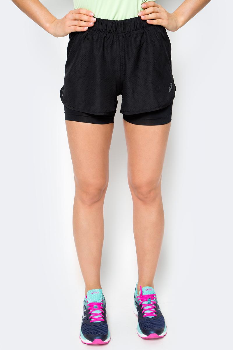 Шорты для бега женские Asics 2-N-1 3.5in Short, цвет: черный. 141227-0904. Размер XL (50/52)141227-0904Женские шорты Asics 2-N-1 3.5in Short отличным дополнением к вашему спортивному гардеробу. Они выполнены из полиэстера, удобно сидят и превосходно отводят влагу от тела, оставляя кожу сухой. Модель дополнена эластичной резинкой на поясе. Эти модные шорты идеально подойдут для бега и других спортивных упражнений. В них вы всегда будете чувствовать себя уверенно и комфортно.
