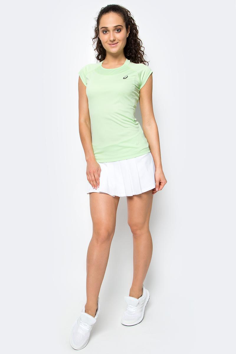 Юбка для тенниса Asics W Club Skort, цвет: белый. 143631-0001. Размер XS (42/44)