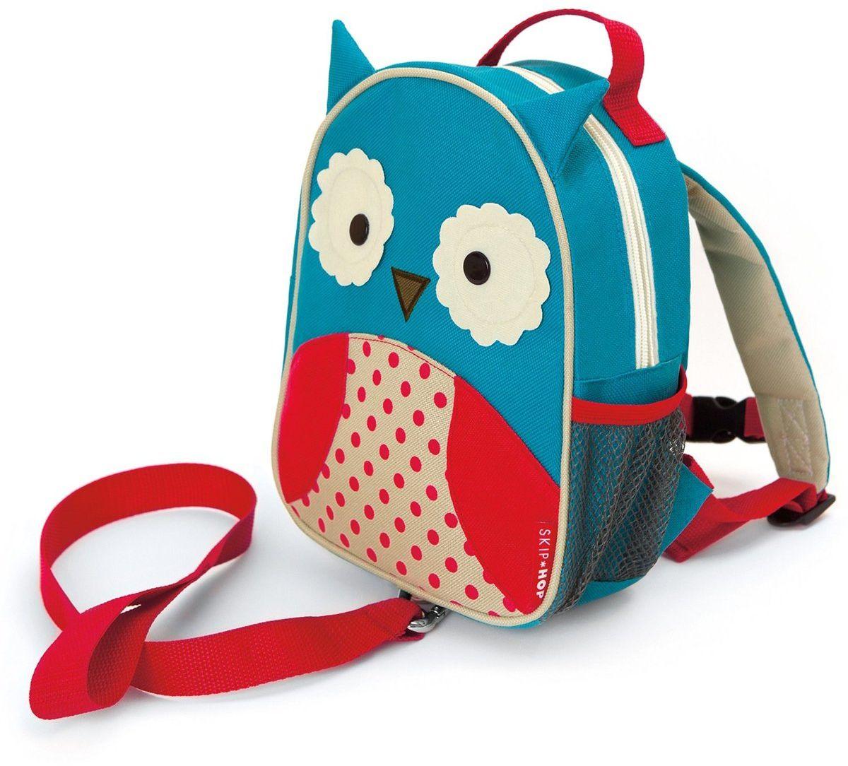Skip Hop Рюкзак дошкольный Сова с поводкомSH 212204Дошкольный рюкзак Skip Hop, выполненный в виде совы, поможет сделать первые шаги, подстрахует малыша в ответственный момент, огородит родителей от лишних волнений и беспокойств с помощью поводка для детской безопасности. При необходимости поводок можно отстегнуть.Милая мордашка животного всегда будет поднимать настроение, а вместительный кармашек позволит носить с собой необходимые вещи: пакетик с соком, любимые игрушки и блокноты для рисования.Рюкзак имеет одно отделение на застежке-молнии, в котором находится бирка для имени.