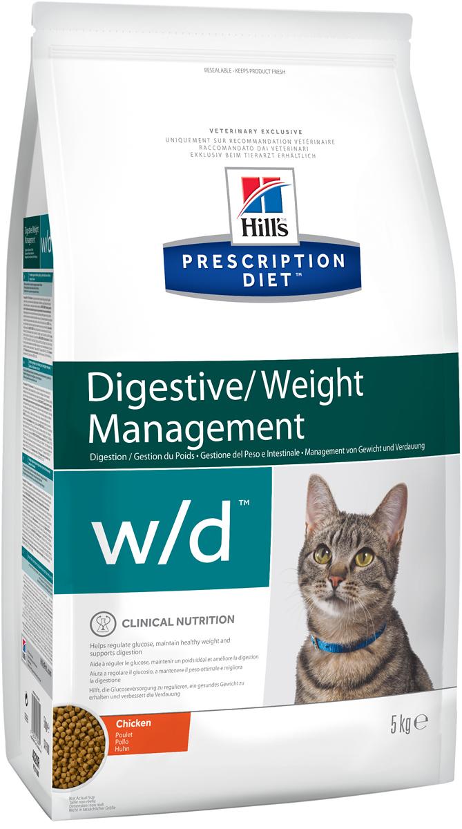 Корм сухой диетический Hills W/D для кошек, для лечения сахарного диабета, запоров, колитов, 5 кг4328Сухой корм Hills W/D - полноценный диетический рацион для кошек, для регулирования уровня глюкозы в крови (при диабете), снижения избыточного веса и регулирования метаболизма жиров в случаях гиперлипидемии. Содержит низкий уровень жира и глюкозосодержащих углеводов, высокий уровень незаменимых жирных кислот и пониженную энергетическую ценность. Монодиета, не требует дополнений. Рекомендуемая продолжительность диетотерапии при регулировании уровня глюкозы - до 6 месяцев; при регулировании обмена жиров - до 2 месяцев; при уменьшении избыточного веса - до достижения оптимального веса. Состав: зерновые злаки, масла и жиры, экстракты растительного белка, производные растительного происхождения, мясо и пептиды животного происхождения, минералы. Источник углеводов: кукуруза, рис. Анализ: белок 37,2%, жир 9,1%, незаменимые жирные кислоты 2,8%, крахмал 26,4%, общий сахар 0,2%, клетчатка 8,5%, зола 5,4%, кальций 0,98%, фосфор 0,78%, натрий 0,27%, калий 0,79%, магний 0,07%; на кг: медь 2,3 мг, витамин E 550 мг, витамин С 70 мг, Бета-каротин 1,5 мг, таурин 1 670 мг, L-карнитин 465 мг. Добавки на кг: E672 (витамин А) 16 000 ME, E671 (витамин D3) 943 ME, E1 (железо) 58 мг, E2 (йод) 1,0 мг, Е4 (медь) 5,7 мг, E5 (марганец) 6 мг, E6 (цинк) 120 мг, E8 (селен) 0,16 мг, антиоксиданты. Метаболическая энергия (рассчитываемая): 13,5 МДж на кг.Товар сертифицирован.Уважаемые клиенты! Обращаем ваше внимание на возможные изменения в дизайне упаковки. Качественные характеристики товара остаются неизменными. Поставка осуществляется в зависимости от наличия на складе.