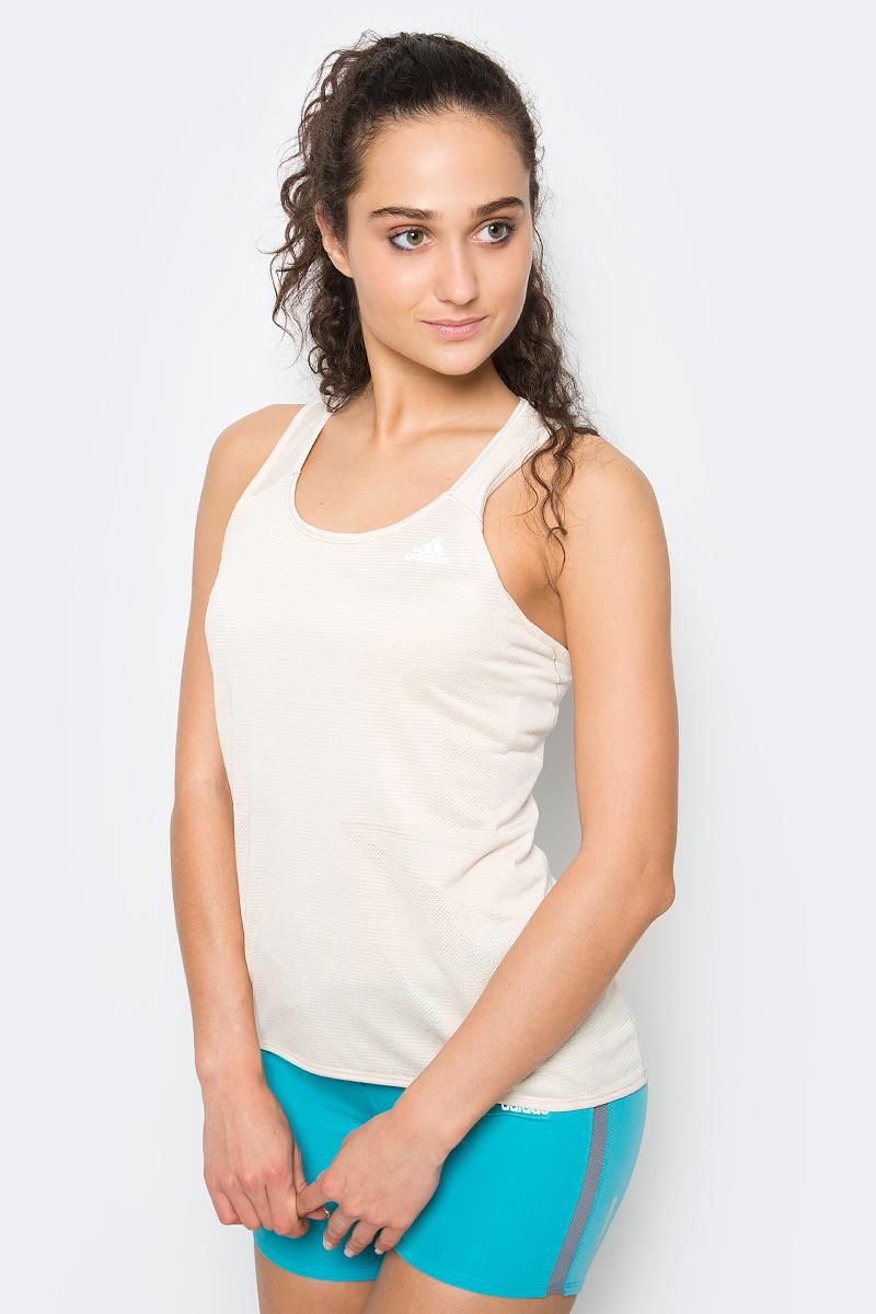 Майка женская Adidas Sn Tnk W, цвет: бежевый. S97953. Размер XL (52/54) футболка женская adidas rs ss tee w цвет розовый cf2140 размер xl 52 54
