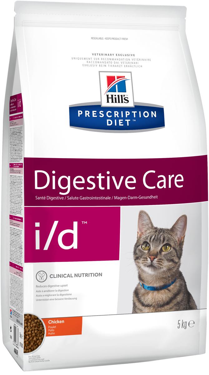 Корм сухой диетический Hills I/D для кошек, для лечения ЖКТ, 5 кг4663Сухой корм для кошек Hills I/D - полноценный диетический рацион при острых кишечных абсорбативных расстройствах, для компенсации дефицита нутриентов (питательных веществ), при нарушении пищеварения и экзокринной недостаточности поджелудочной железы у кошек. Рацион содержит повышенный уровень электролитов, ингредиенты высокой биологической ценности и биодоступности и пониженный уровень жира.br>Пониженный уровень жира и обогащение пребиотическими волокнами обеспечивает легкость пищеварения и быстрое восстановление организма после диареи.- Превосходный вкус понравится вашей кошке.- Супер Антиоксидантная формула помогает укрепить иммунную систему.Монодиета. Не требует дополнений. Рекомендации по кормлению: рекомендуемое число кормлений - 2 раза в сутки и более. Для поддержания оптимального веса питомца суточная норма корма, обозначенная на упаковке, требует корректировки в соответствии с размерами животного. Рекомендуемая продолжительность диетотерапии при острой диарее - 1-2 недели; для компенсации дефицита нутриентов - 3-12 недель; в случаях хронической недостаточности поджелудочной железы - пожизненно. Обеспечьте питомца постоянным свободным доступом к свежей воде. Состав: мясо и пептиды животного происхождения, зерновые злаки, экстракты растительного белка, производные растительного происхождения, масла и жиры, минералы, семена. Ингредиенты высокой биологической ценности: кукуруза, рис, мука из птицы, животный жир.Анализ: белок 38,3%, жир 18,9%, клетчатка 2,7%, зола 6,7%, кальций 1,07%, фосфор 0,81%, натрий 0,35%, калий 1,00%, магний 0,07%. На кг: витамин Е 550мг, витамин С 70 мг, бета-каротин 1,5 мг, таурин 1 880.Добавки на кг: витамин А 18 250 МЕ, витамин D3 1 075 МЕ, железо 87 мг, йод 1,4 мг, медь 8,6 мг, марганец 9 мг, цинк 180 мг, селен 0,24 мг. С антиоксидантами и консервантом.Товар сертифицирован.Уважаемые клиенты! Обращаем ваше внимание на возможные изменения в дизайне упаковки. Качественны