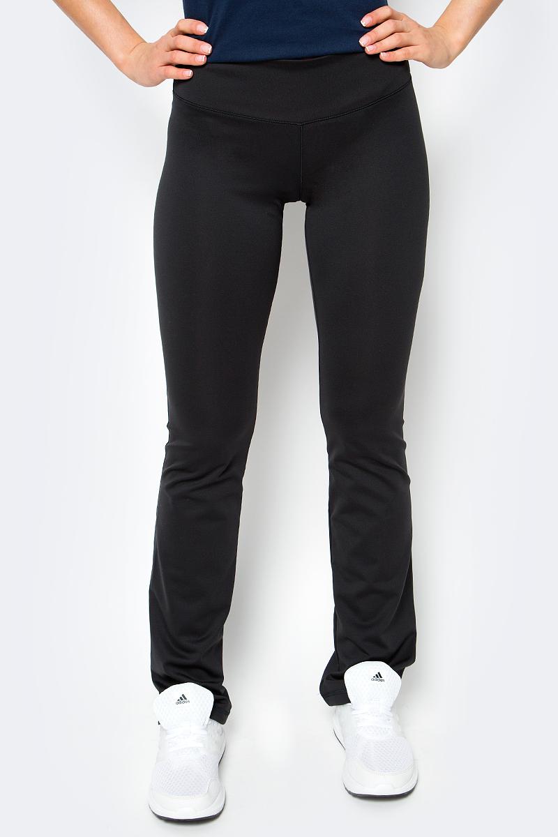 цены на Брюки спортивные женские adidas D2M Pant, цвет: черный. BP8823. Размер S (42/44) в интернет-магазинах