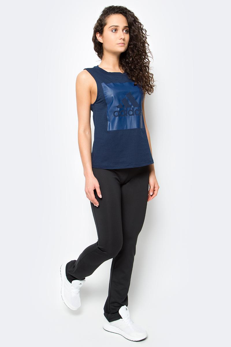 Брюки спортивные женские adidas D2M Pant, цвет: черный. BP8823. Размер S (42/44)