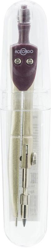 Rotondo Циркуль86112Циркуль Rotondo предназначен для уроков черчения и самостоятельных занятий. Циркуль изготовлен из качественного металла и упакован в прозрачный пластиковый футляр. Изделие отличается компактными размерами.