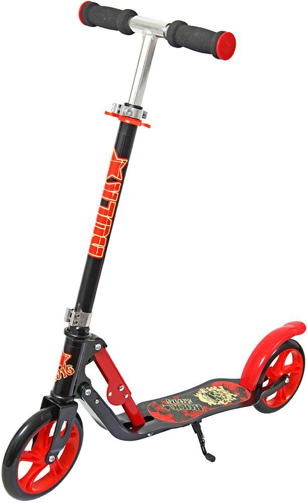 Самокат Veld-Co, 2-колесный, цвет: красный, черный набор декоративных лент veld co 1 9 см х 3 м 30 шт