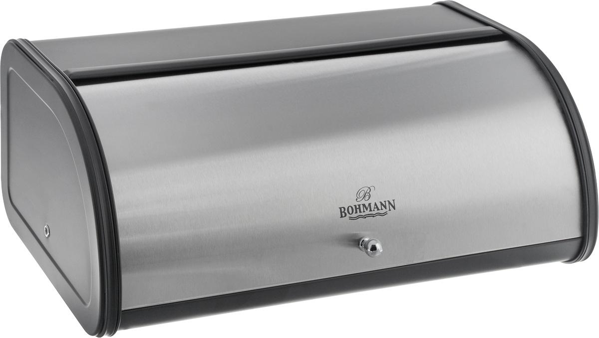 Хлебница Bohmann, 44,5 х 26,5 х 17,5 см. 7230BH7230BHХлебница Bohmann изготовлена из высококачественной нержавеющей стали c зеркальной полировкой. Компактная в использовании, хлебница не требует дополнительного места при открывании крышки. Крышка гладко скользит внутрь корпуса при открытии. Задняя стенка хлебницы оснащена отверстиями для циркуляции воздуха. Хлебница Bohmann позволит надолго сохранить свежесть, мягкость, аромат хлеба и других хлебобулочных изделий. Она отличается стильным классическим дизайном и впишется в любой кухонный интерьер.
