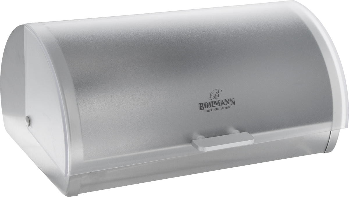 Хлебница Bohmann, 44,5 х 26,5 х 17,5 см. 7242BH7242BHХлебница Bohmann изготовлена из высококачественной нержавеющей стали c зеркальной полировкой. Компактная в использовании, хлебница не требует дополнительного места при открывании крышки. Крышка гладко скользит внутрь корпуса при открытии. Задняя стенка хлебницы оснащена отверстиями для циркуляции воздуха. Хлебница Bohmann позволит надолго сохранить свежесть, мягкость, аромат хлеба и других хлебобулочных изделий. Она отличается стильным классическим дизайном и впишется в любой кухонный интерьер.