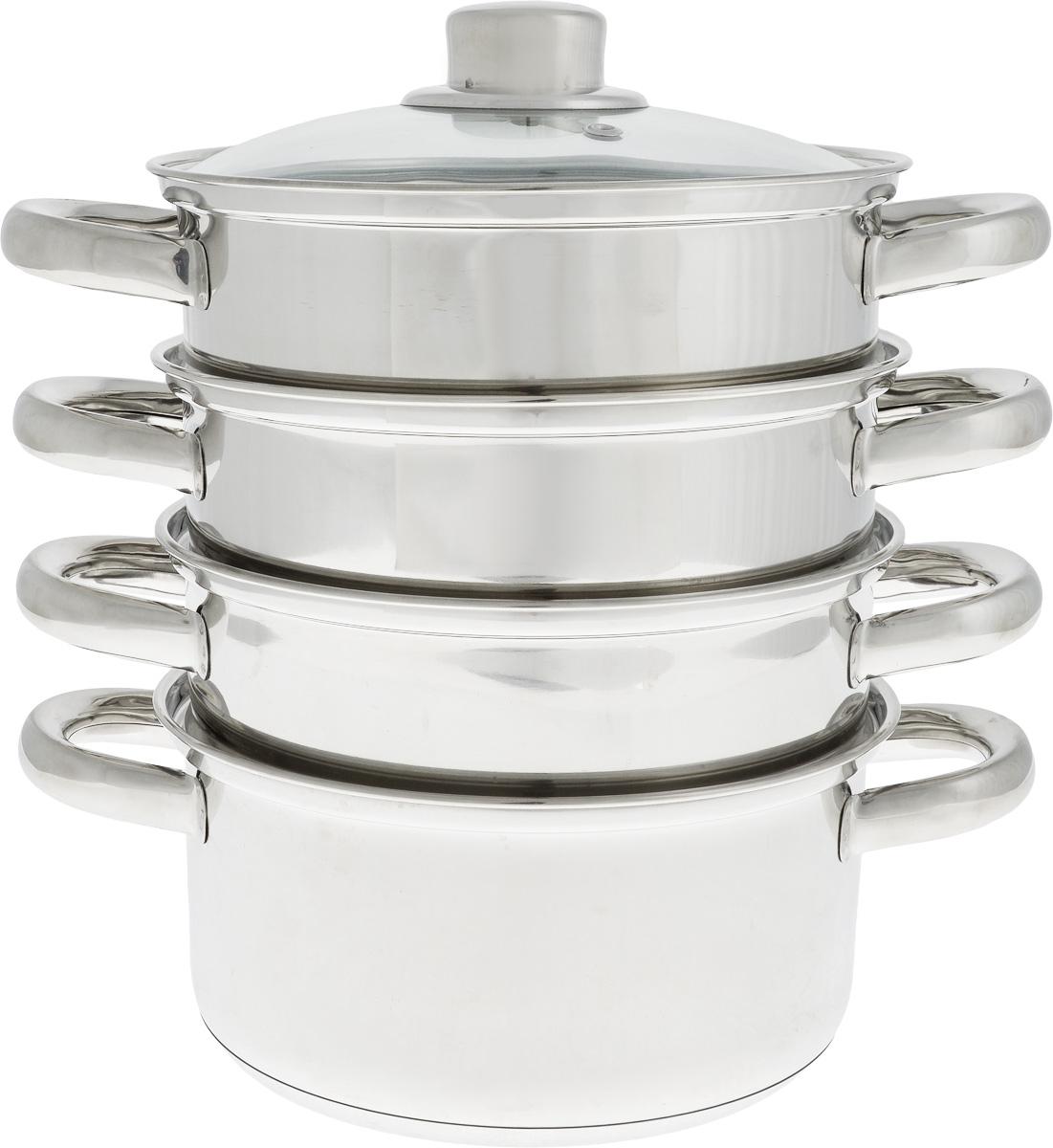 Кастрюля-пароварка  Bohmann , с крышкой, 4-уровневая, 2,5 л - Посуда для приготовления