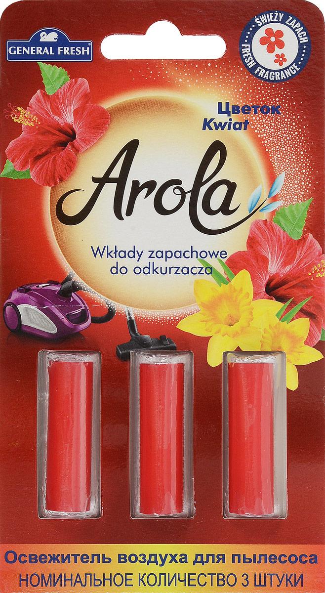 """Освежитель воздуха General Fresh """"Air Fresh. Цветок"""",  выполненный в виде 3 пропитанных капсул, нейтрализует  неприятные запахи, оставляя в доме приятный аромат. Такие  капсулы имеют длительное действие и освежают воздух до  момента очистки или замены пылесборного мешка.  Длина капсулы: 3,5 см.  Уважаемые клиенты! Обращаем ваше внимание на возможные изменения в дизайне  упаковки. Качественные характеристики товара остаются  неизменными. Поставка осуществляется в зависимости от  наличия на складе."""
