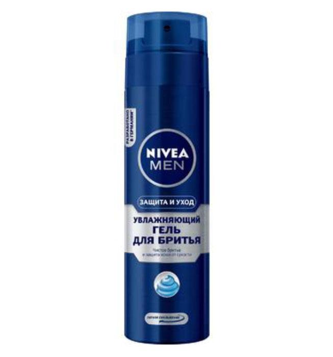 NIVEA Гель для бритья Увлажняющий Защита и уход, 200мл гель д бритья nivea серебряная защита 200мл