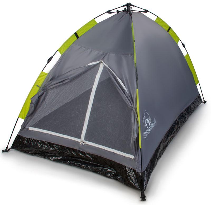 Палатка Greenwood Mat-192-2, 2-х местная, цвет: серый, зеленый, 200 х 125 х 110 см336027Компактная однослойная двухместная палатка Greenwood MAT-192-2предназначена для непродолжительных путешествий, походов выходного дня, рыбалки и охоты.Водонепроницаемый материал тента позволяет спрятаться в дождливую погоду от промокания и ветра. Пол из армированного полиэтилена позволит сохранить внутренность палатки достаточно сухой без повышения оптимальной влажности.Материал тента: полиэстер 190T. Материал пола: армированный полиэтилен 130 г/кв. м. Дуги: фиберглас, 7,9 мм. Водонепроницаемость тента: 1000 мм. Размеры палатки: 200 х 125 х 110 см.Что взять с собой в поход?. Статья OZON Гид