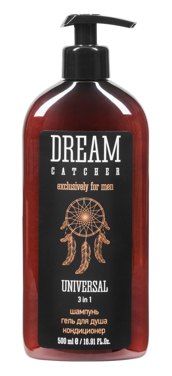 Dream Catcher Шампунь, гель для душа, кондиционер Universal 3 in 1, 500 мл4605370010831Средство для мужчин, ценящих свое время. Объединяет удобство универсального применения и пользу натуральных компонентов. В составе – морские минералы, витамины, экстракт льна и инулин. Очищает и кондиционирует, придавая коже мягкость и гладкость, а волосам – жизненную силу и блеск