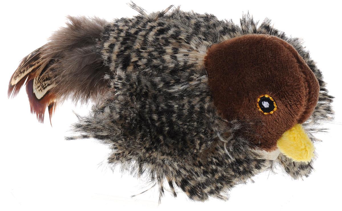 Игрушка для кошек GiGwi Птичка, со звуковым чипом, длина 15 см электронная игрушка для кошек gigwi pet droid фезер воблер