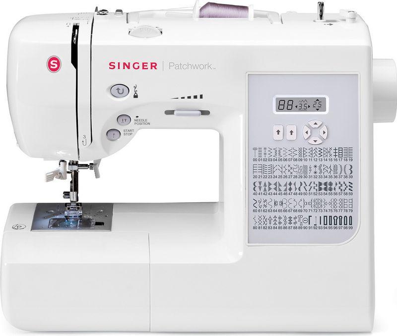 Singer Patchwork 7285Q швейная машинаPATCHWORK 7285QШвейная машина Singer PATCHWORK 7285Q Электронная100 операций, петля автомат, нитеобрезатель, реверс, квилтинг, ЖК дисплей
