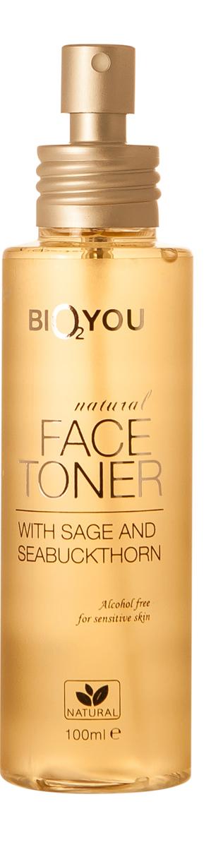 BIO2You Natural Skin Car Натуральный тоник для лица с шалфеем и облепихой, 100 мл960169Bеликолепная органическая формула успокаивает и освежает, поддерживая увлажнение кожи, одновременно очищая ее. Воздействует на несовершенства кожи и излишний жир, защищая от пересыхания. Кожа становится упругой и нежной. Благотворно воздействует, омолаживает, обладает противовоспалительными свойствами.