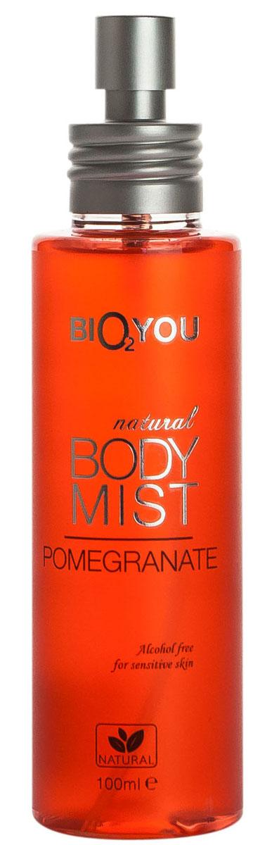 BIO2You Спрей для тела Гранат, 100 мл961906Этот экзотический поцелуй Гранатa наполнит вас положительными эмоциями. Hе содержит спирта, и идеально подходит для использования на чувствительной коже.