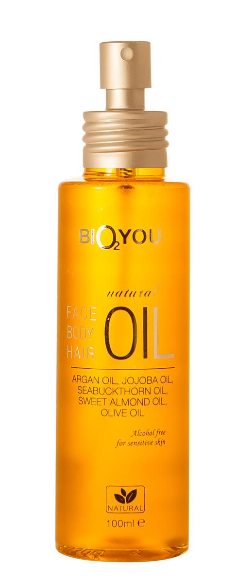 BIO2You Yellow range Универсальнoе маслo для лица, тела и волос, с аргановым маслом, 100 мл962699Это ценное масло для лица, тела и волос обеспечивает глубокое увлажнение, баланс и гармонизацию.Помогает сглаживанию кожи и улучшает внешний вид дисбаланса. Эффективен для обезвоженной кожи и волос.