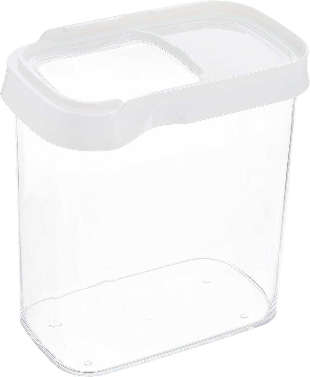 Контейнер для сыпучих продуктов Emsa Optima, 1,6 л. 514551514551Контейнер Emsa Optima выполнен из прочного пищевого пластика без содержания BPA. Прозрачные стенки позволяют видеть количество содержимого. Изделие имеет плотно закрывающуюся крышку с прозрачным окошком, которая открывается движением в сторону. Изделие не накапливает запахов, легко моется, практично в использовании. Идеально подходит для хранения различных сыпучих продуктов: круп, чая, кофе, сахара, сухофруктов, орехов. Можно мыть в посудомоечной машине.