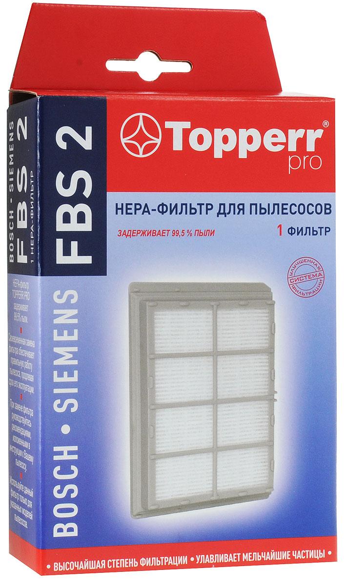 Topperr FBS 2 HEPA-фильтр для пылесосовBosch, Siemens topperr bs 3 фильтр для пылесосов bosch siemens 4 шт
