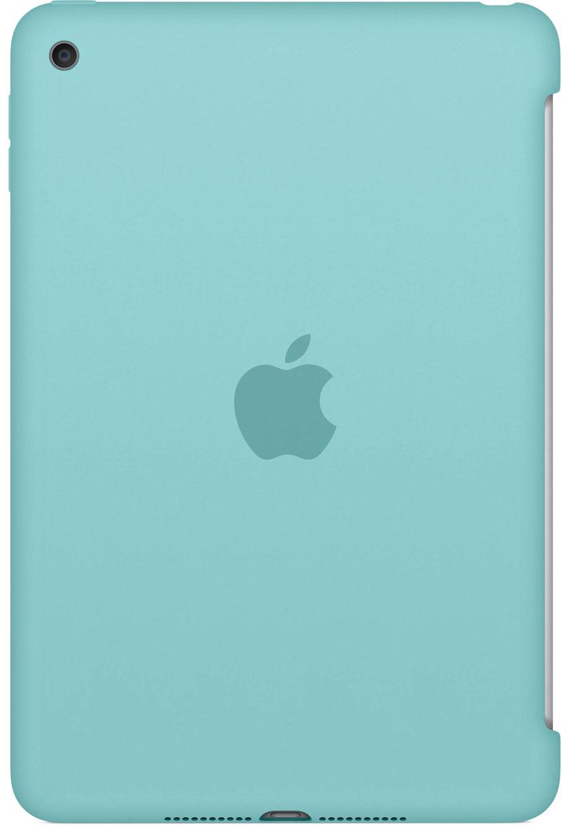 Apple Silicone Case чехол для iPad mini 4, Sea Blue lab c slim fit case чехол для apple ipad mini 4 red
