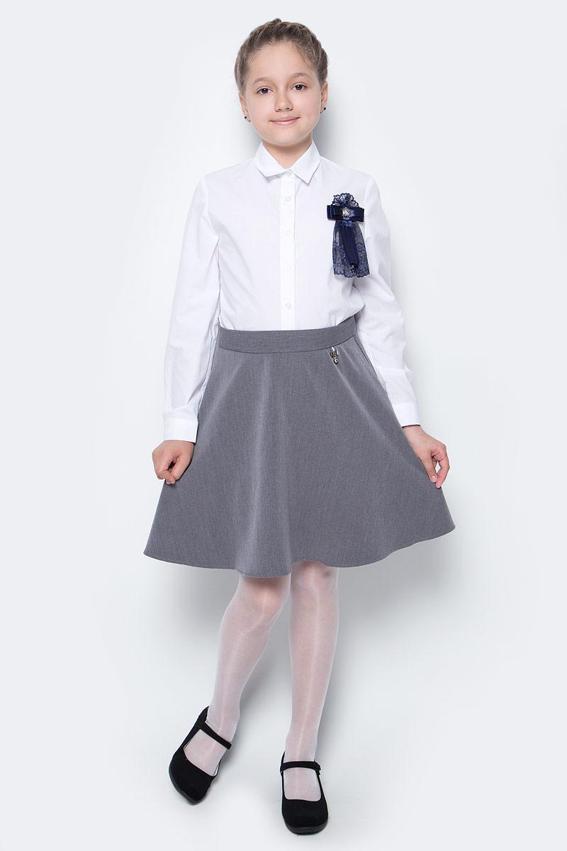 Юбка для девочки Nota Bene, цвет: серый. CWA27002A20. Размер 128CWA27002B20/CWA27002A20Стильная юбка для девочки от Nota Bene выполнена из вискозы и полиэстера с добавлением лайкры. Модель застегивается на застежку-молнию.
