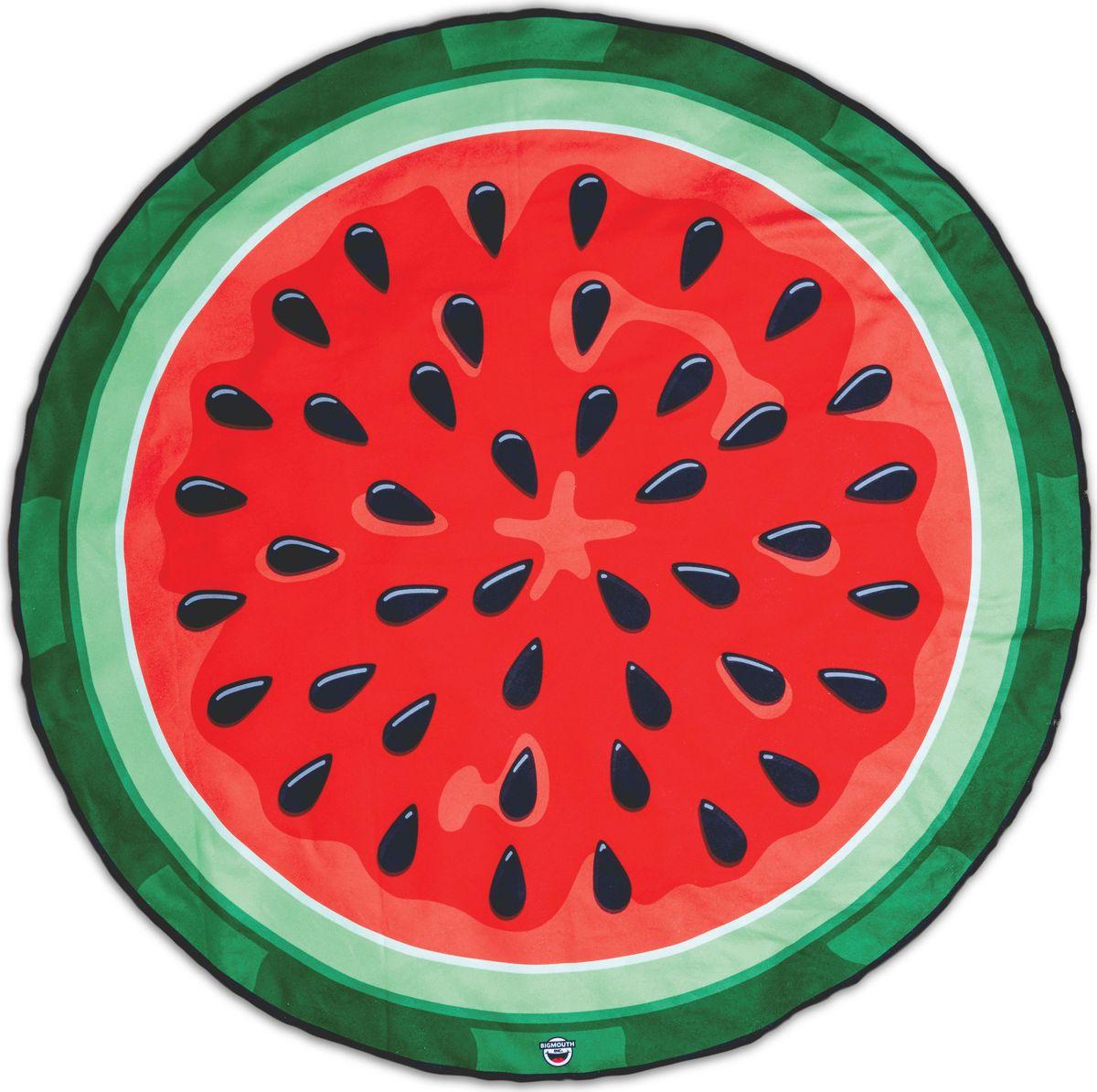 Покрывало пляжное BigMouth WatermelonBMBTWAПляжные покрывала Big Mouth отличаются яркими и незаурядными дизайнами, за счет чего сразу приковывают к себе внимание. На них приятно расположиться у моря или бассейна в жаркий летний день и ловить на себе согревающие солнечные лучи. Благодаря тому, что изделия имеют довольно крупные размеры, они прекрасно подходят как для детей, так и для взрослых. Легкий и приятный на ощупь материал подарит максимальный комфорт, а оригинальный окрас подчеркнет вашу индивидуальность. Покрывало можно использовать еще и в качестве пляжного полотенца, ведь тыльная сторона изделия выполнена из мягкой ткани, хорошо впитывающей влагу.