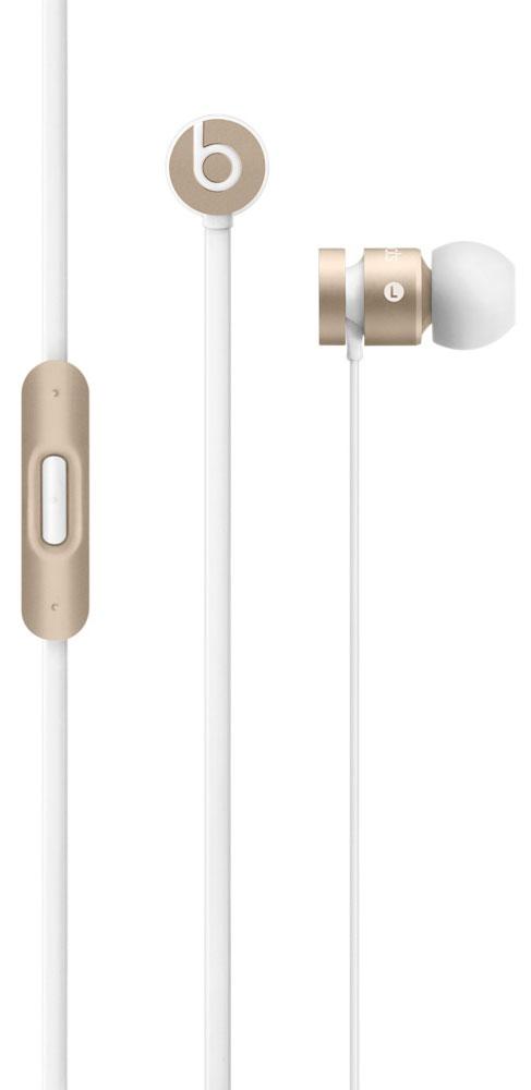 Beats urBeats 2, Gold наушникиMK9X2ZE/BНаушники Beats urBeats 2 обеспечивают великолепное качество звучания и управление музыкой на вашем iPhone, iPad или iPod touch.Цельный металлический корпусЦельный металлический корпус, обработанный с высокой точностью, подавляет вибрации и устраняет негативные призвуки, улучшая процесс прослушивания. Закрытая внутриканальная конструкция и ушные вкладыши различной формы блокируют посторонние шумы.ПрочностьНе важно, насколько бережно вы обращаетесь с вашими urBeats, - теперь не нужно волноваться о том, что они скоро сломаются или износятся. Встроенный микрофон для совершения звонковЛегкое переключение между прослушиванием музыки и приемом вызовов. Встроенный микрофон позволит вам говорить с применением гарнитуры на ваших устройствах Apple.Эксклюзивная конструкция драйвера позволяет воспроизводить глубокие низкие, невесомые высокие и сверхчистые средние частоты. Легкая конструкция идеально подходит для прослушивания во время занятий спортом, путешествий или повседневного использования.