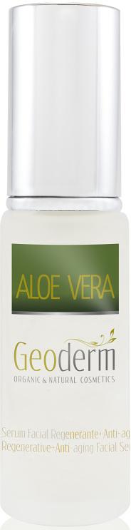 Geoderm Восстанавливающая и омолаживающая сыворотка для лица Алоэ вера, 30 мл8330Интенсивная сыворотка на основе сока листьев алоэ органического происхождения обогащена маслом плодов шиповника, маслом авокадо и экстрактом листьев красного винограда.Благодаря синергии мощных растительных ингредиентов сыворотка активизирует естественное обновление клеток, увлажняет и уменьшает выраженность морщин, улучшает цвет лица и возвращает коже жизненную силу и молодость.