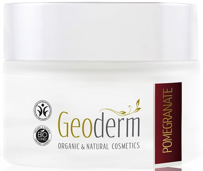 Geoderm Увлажняющий и регенерирующий крем для лица Гранат, 50 мл8446Эксклюзивный крем обеспечивает длительное и интенсивное увлажнение кожи, проникая в самые глубокие слои эпидермиса.Обогащенный органическим маслом косточек граната, крем стимулирует обновление клеток кожи, замедляет появление новых морщин и разглаживает уже существующие.Кожа восстанавливает свою эластичность, мягкость и естественное сияние.